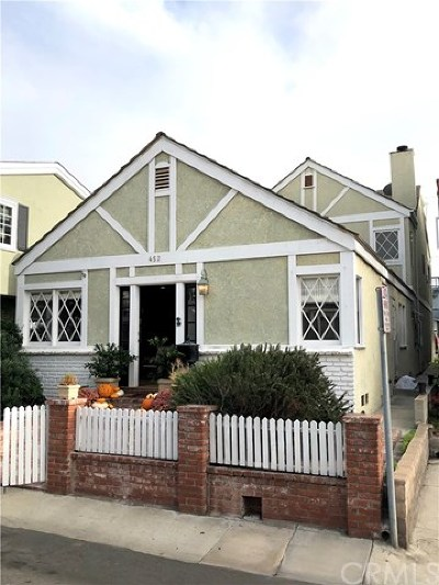Manhattan Beach Single Family Home For Sale: 452 30th Street
