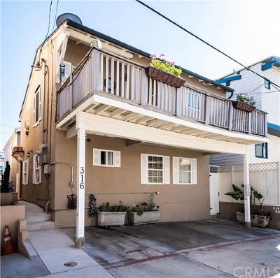 Hermosa Beach Single Family Home For Sale: 316 29th Court