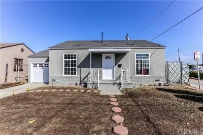Gardena Single Family Home For Sale: 15032 Wadkins Avenue
