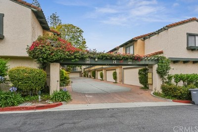 Palos Verdes Estates, Rancho Palos Verdes, Rolling Hills Estates Condo/Townhouse For Sale: 28653 Vista Madera