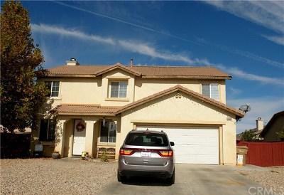 Hesperia Single Family Home For Sale: 13334 Somerset Street