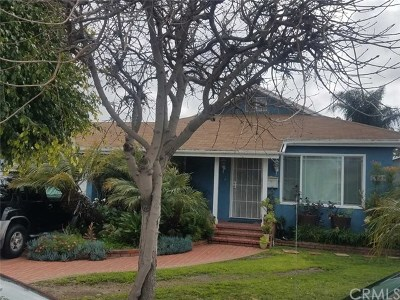 Hawthorne Single Family Home For Sale: 3720 W 115th Street