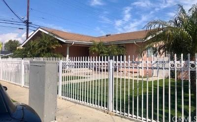 Hawthorne Single Family Home For Sale: 13500 Cerise Avenue