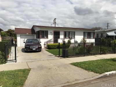 Los Angeles Single Family Home For Sale: 827 E 102nd Street