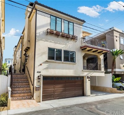 Manhattan Beach Condo/Townhouse For Sale: 420 23rd Pl