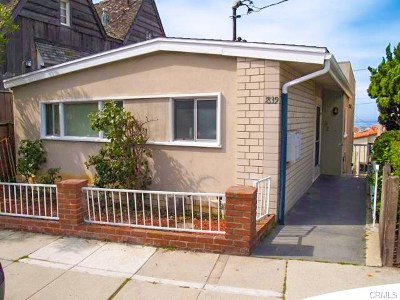 Los Angeles County Rental For Rent: 1839 Manhattan Avenue
