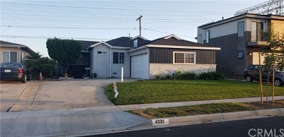 Torrance Single Family Home For Sale: 4330 W 177th Street