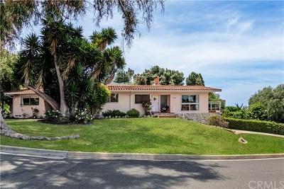 Palos Verdes Estates Single Family Home For Sale: 1100 Via Zumaya