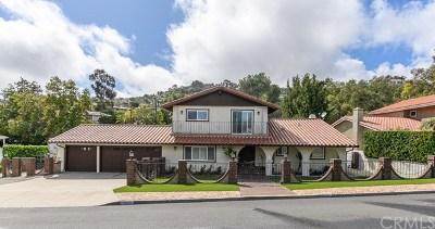 Rancho Palos Verdes CA Single Family Home For Sale: $1,900,000