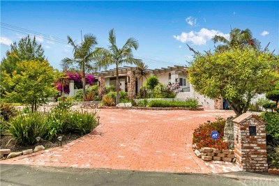 Rancho Palos Verdes Single Family Home For Sale: 9 Rockinghorse Road