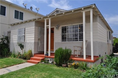 Los Angeles Single Family Home For Sale: 1343 W 101st Street