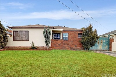 Los Angeles Single Family Home For Sale: 12712 S Halldale Avenue