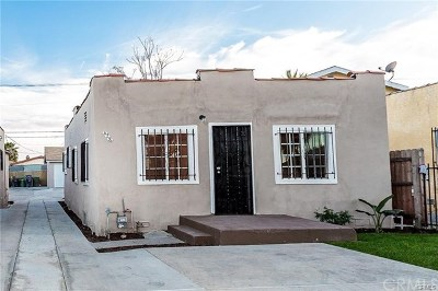 Los Angeles CA Single Family Home Active Under Contract: $275,000