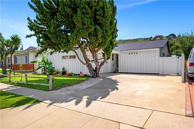 Torrance CA Single Family Home For Sale: $899,000