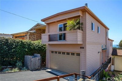 Cayucos Single Family Home For Sale: 888 Saint Mary Avenue