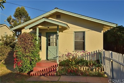 Cayucos Single Family Home For Sale: 91 11th Street