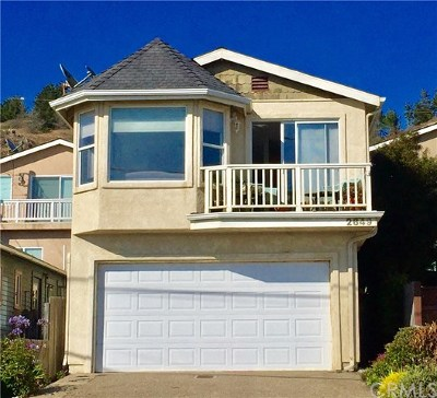 Cayucos Single Family Home For Sale: 2649 Ocean Boulevard