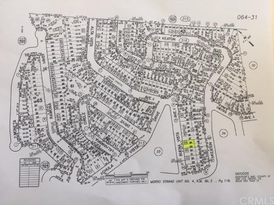 San Luis Obispo County Residential Lots & Land For Sale: Paper Roads Cayucos