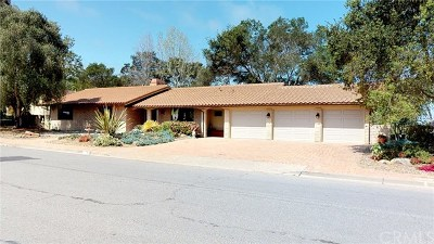 San Luis Obispo Single Family Home For Sale: 177 Country Club Drive