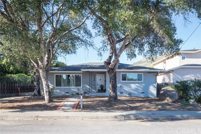 San Luis Obispo Single Family Home For Sale: 1706 Fredericks Street
