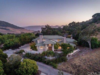 San Luis Obispo CA Single Family Home For Sale: $1,799,000