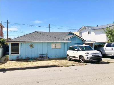 Cayucos Single Family Home For Sale: 2784 Orville Avenue