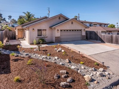 Morro Bay CA Single Family Home For Sale: $729,000