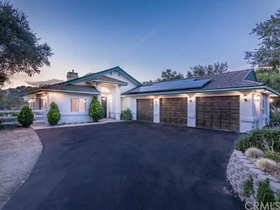 Atascadero Single Family Home For Sale: 9760 Corona Road
