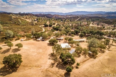 Santa Margarita Single Family Home For Sale: 3928 Parkhill Road