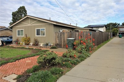 Grover Beach Single Family Home For Sale: 1051 Atlantic City Avenue #B