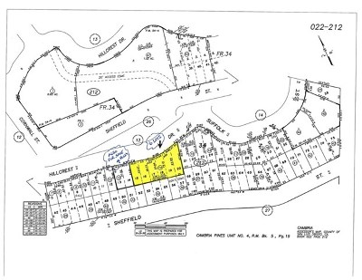 Cambria Residential Lots & Land For Sale: Hillcrest Drive