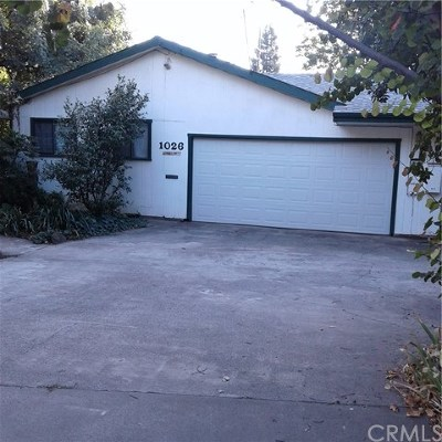 Chico Single Family Home For Sale: 1026 Ivy Street