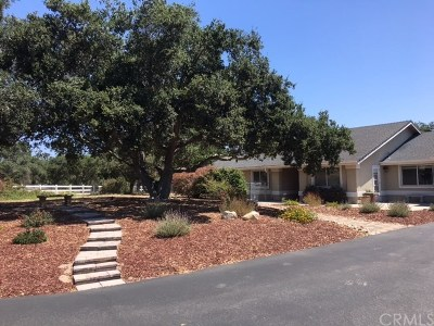 Arroyo Grande Single Family Home For Sale: 231 Summit Station Road