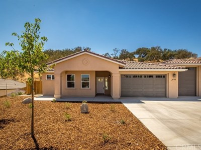 Paso Robles CA Single Family Home For Sale: $619,800