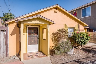Morro Bay Single Family Home For Sale: 333 Island Street