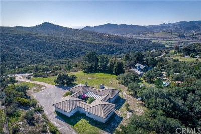 San Luis Obispo CA Single Family Home For Sale: $1,200,000