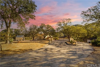 Santa Margarita Single Family Home For Sale: 7070 Tassajara Creek Rd