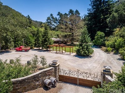 San Luis Obispo Single Family Home For Sale: 2885 See Canyon Road
