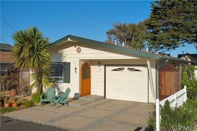 Cayucos CA Single Family Home For Sale: $1,040,000