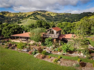 Cambria CA Single Family Home For Sale: $4,500,000