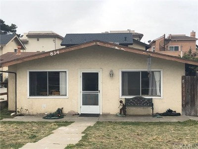 Grover Beach Single Family Home For Auction: 834 Manhattan Avenue