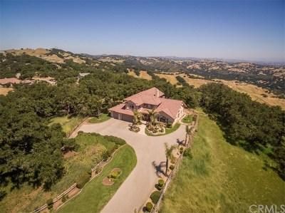 Atascadero Single Family Home For Sale: 12275 San Marcos Road