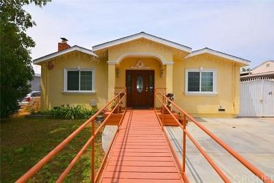 Sun Valley Single Family Home For Sale: 7913 Satsuma Avenue