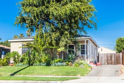 North Hollywood Single Family Home Active Under Contract: 5441 Cartwright Avenue