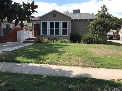 North Hollywood Single Family Home For Sale: 5719 Irvine Avenue