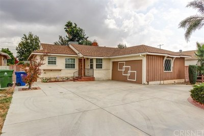 North Hollywood Single Family Home Active Under Contract: 7742 Bellaire Avenue