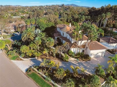 Rancho Santa Fe Single Family Home For Sale: 16475 Via Cazadero
