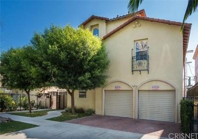Sherman Oaks Condo/Townhouse For Sale: 4442 Vista Del Monte Avenue #1