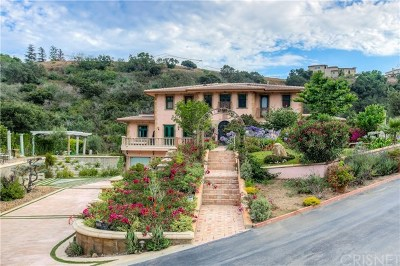 Malibu Single Family Home For Sale: 28305 Via Acero Street