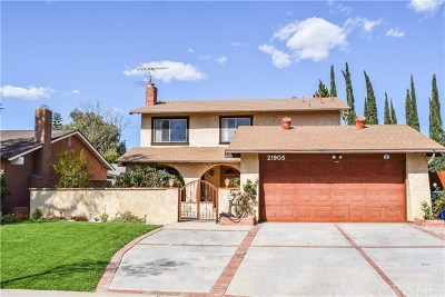 Chatsworth Single Family Home For Sale: 21905 Germain Street
